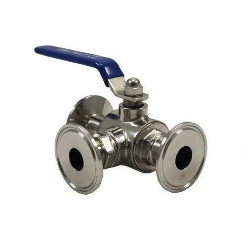 Válvula 3 Vias Sanitária para Comprar Alagoas - Válvula Borboleta Sanitária Inox